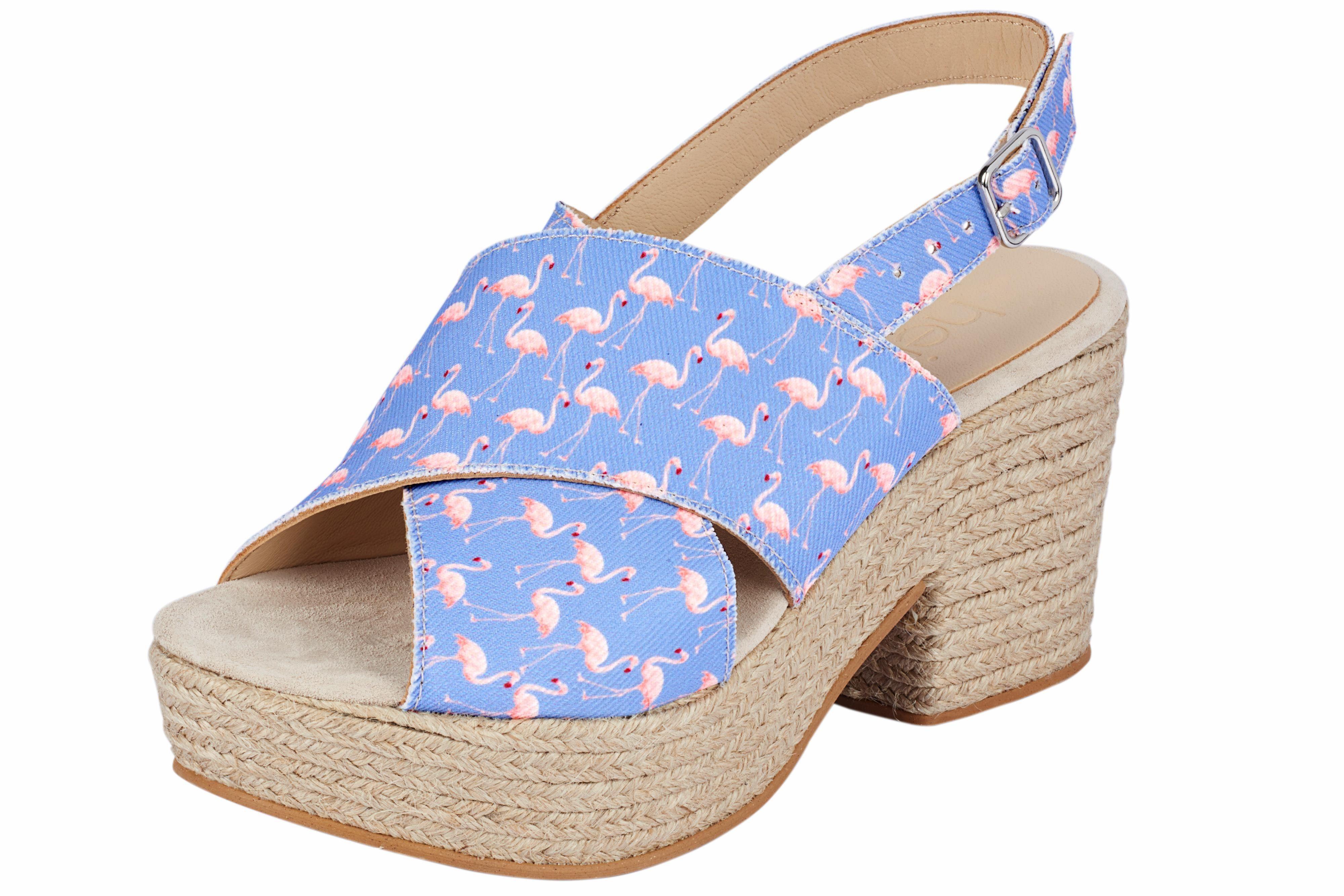 Heine Sandalette mit Flamingo-Dessin online kaufen  flieder
