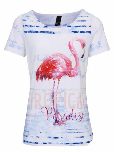 B.C. BEST CONNECTIONS by Heine T-Shirt mit Flamingo-Applikation