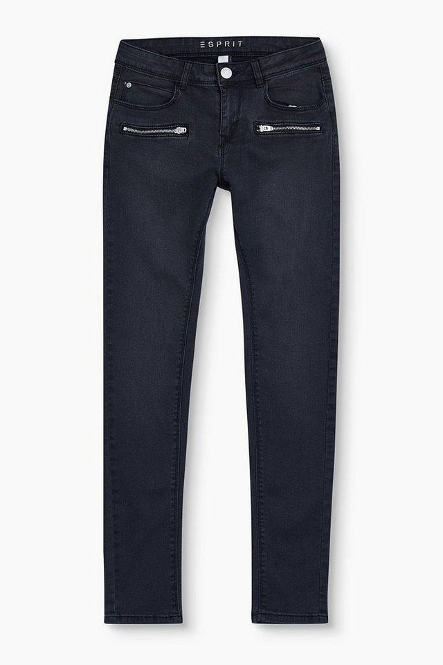 esprit stretch jeans mit zipper details kaufen otto. Black Bedroom Furniture Sets. Home Design Ideas