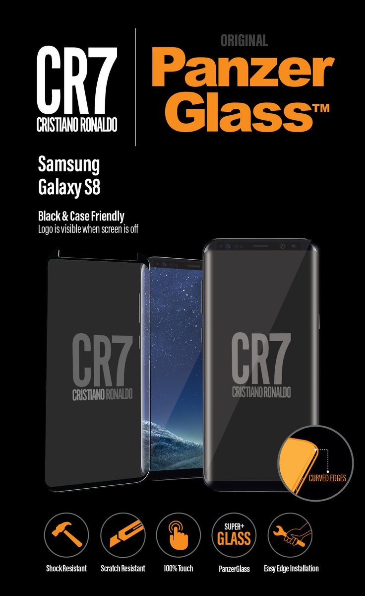 Panzerglass Christiano Ronaldo Displayschutzglas »2,5D f. Galaxy S8 CaseFriendly CR7 Edition«