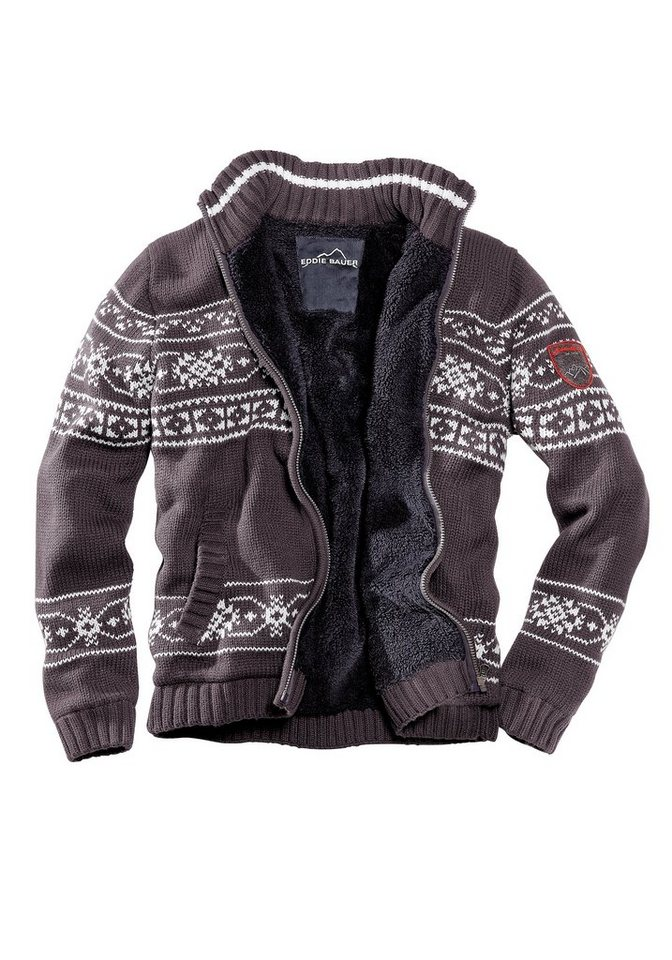 eddie bauer norweger strickjacke mit sherpafutter otto. Black Bedroom Furniture Sets. Home Design Ideas