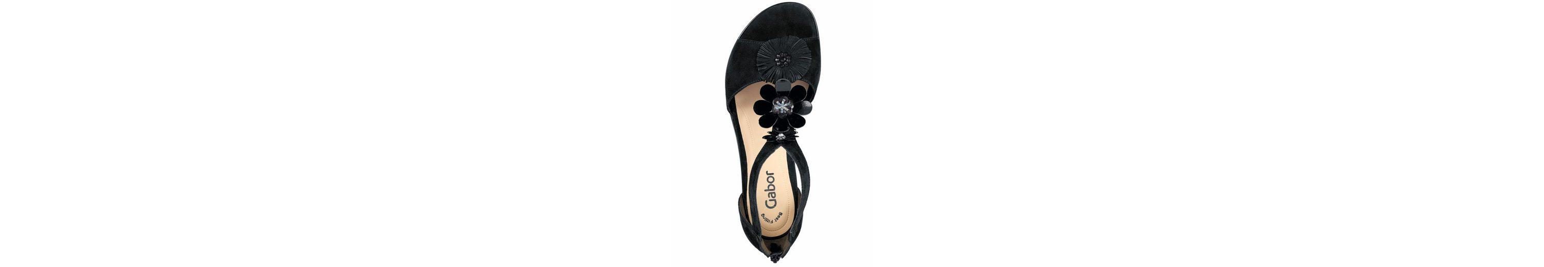 Neuesten Kollektionen GABOR Sandalette mit Blütenapplikationen Freies Verschiffen Besuch Neu Verkauf Brandneue Unisex RroX6VXMJm