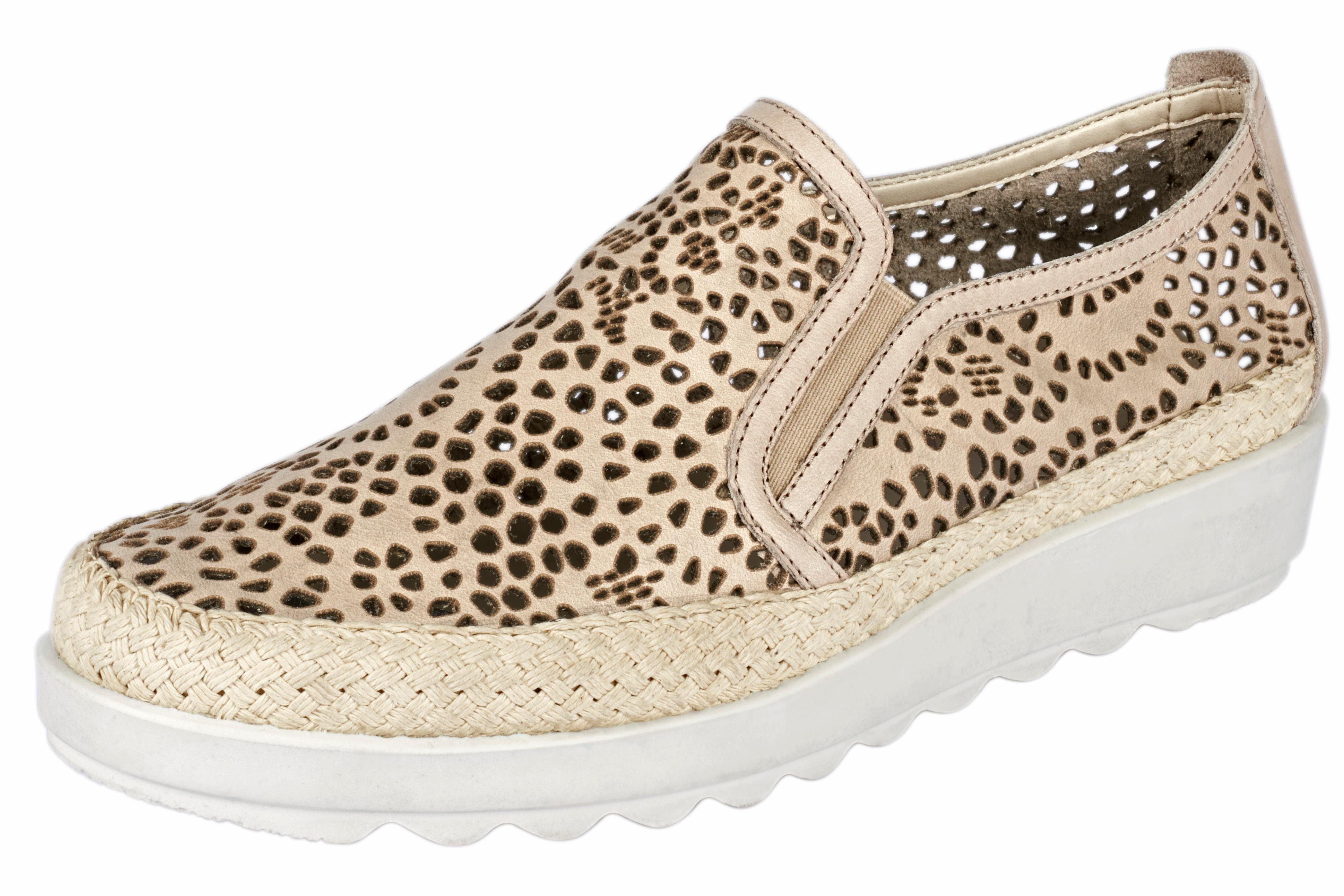 Flexx Slipper mit Cut-Out-Dessin, beige, 35 35
