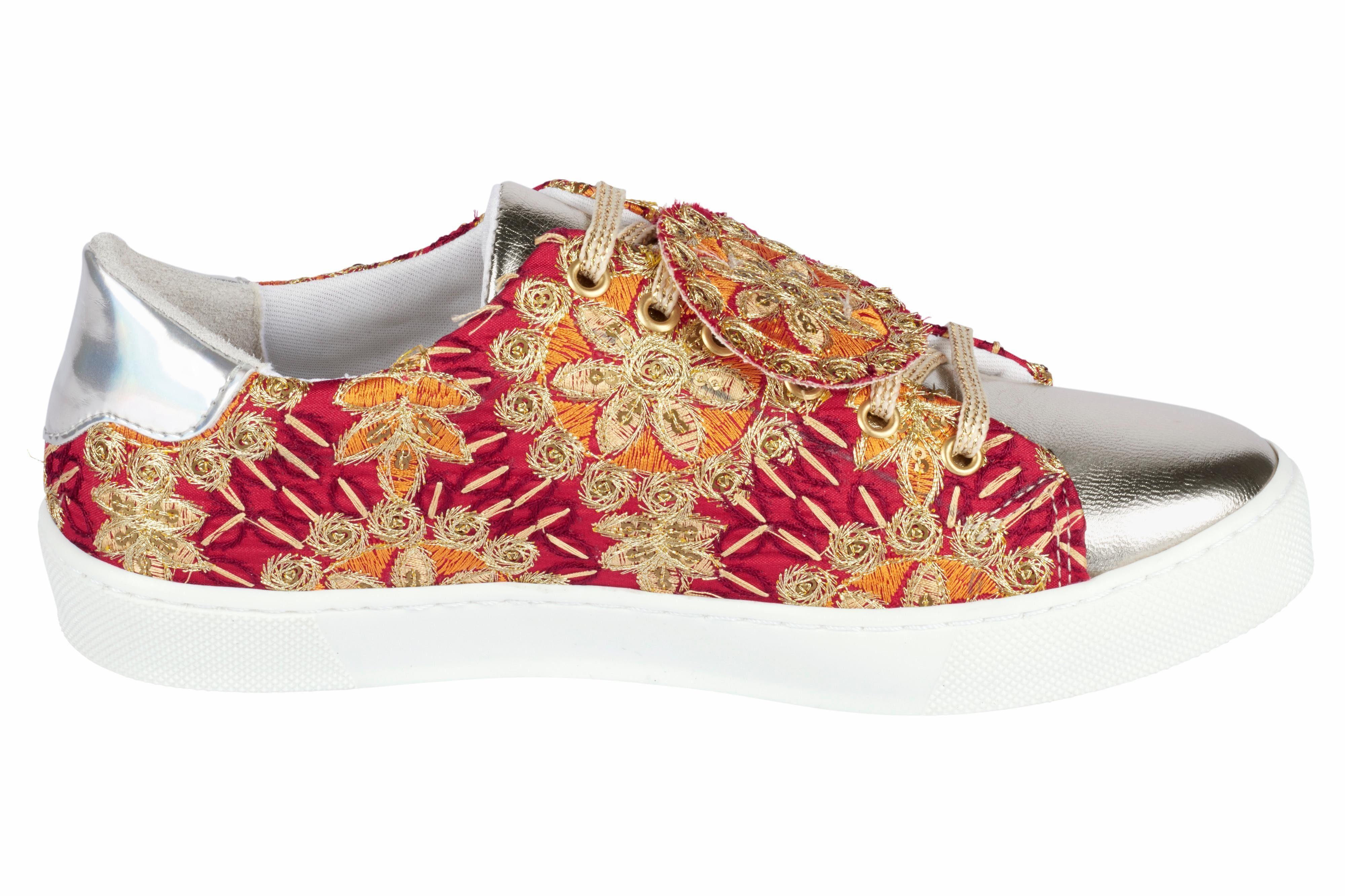 Heine Sneaker mit Stickerei online kaufen  rot#ft5_slash#goldfarben
