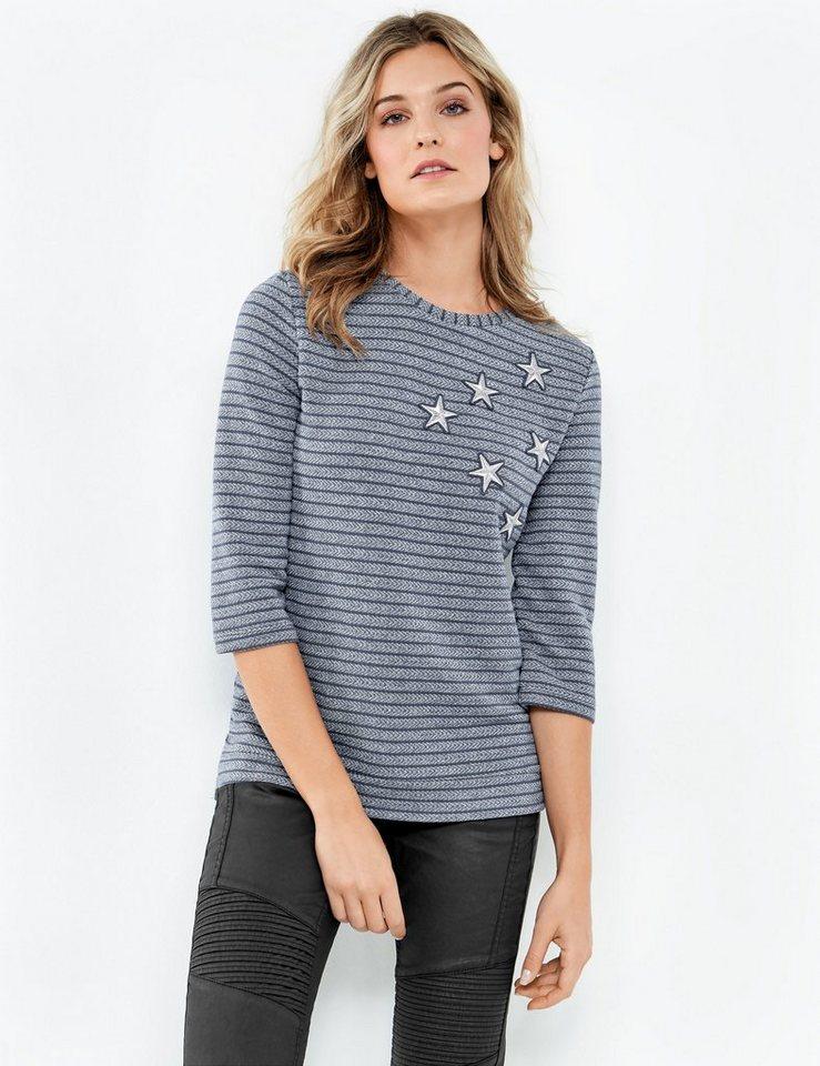 taifun t shirt 3 4 arm rundhals struktur shirt mit. Black Bedroom Furniture Sets. Home Design Ideas