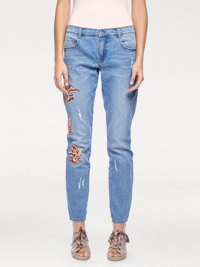 LINEA TESINI by Heine Boyfriend-Jeans Mit Stickerei