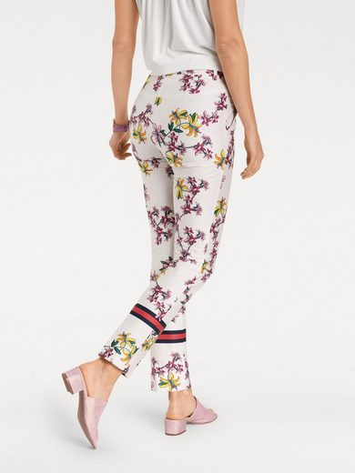 ASHLEY BROOKE by Heine Druckhose mit Blumen-Dessin