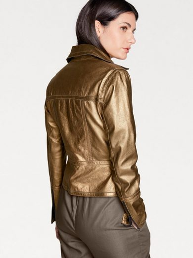 Rick Cardona By Heine Leather Jacket, Lamb Nappa In Biker Style