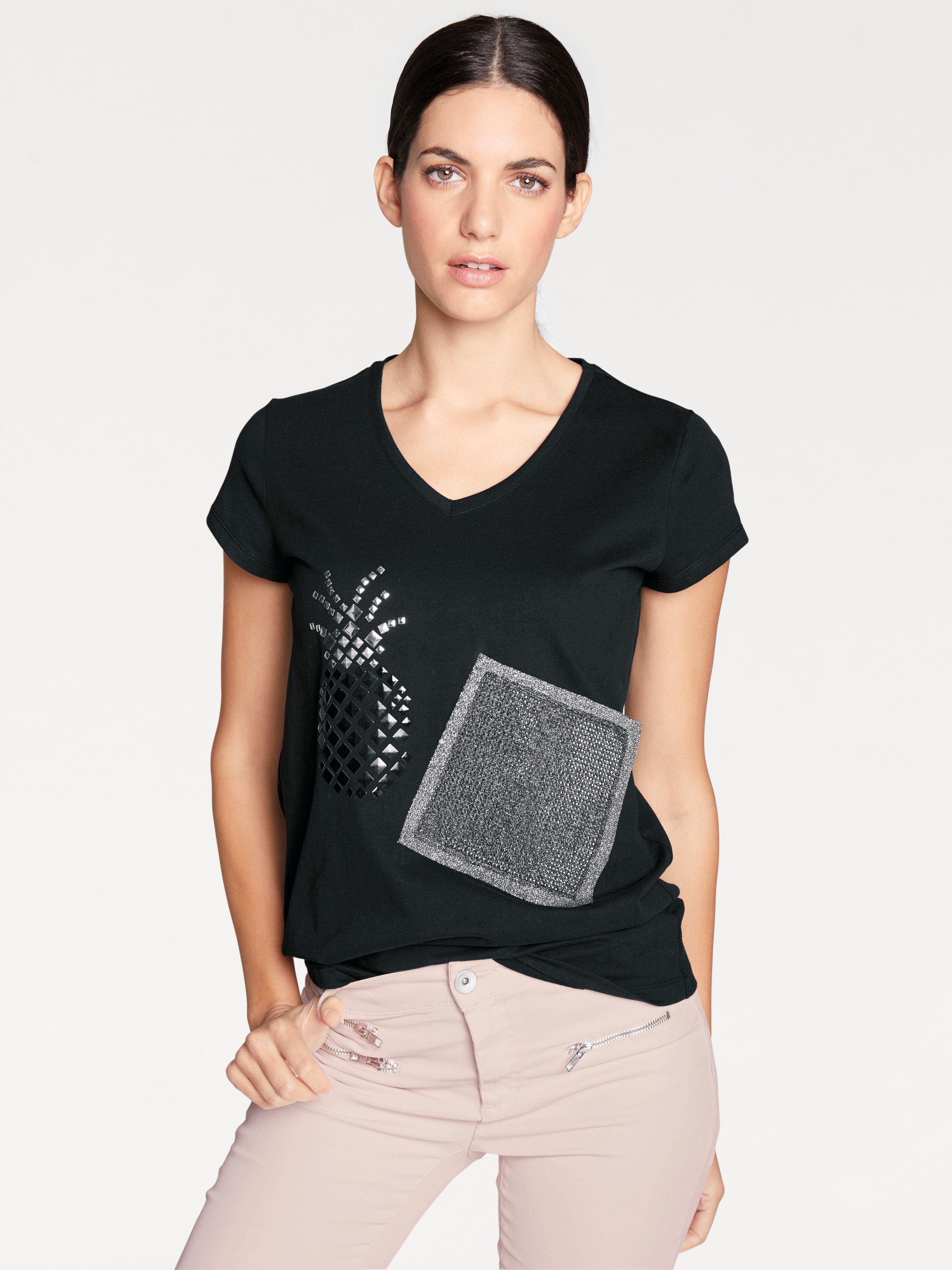 heine STYLE T-Shirt mit Nietenbesatz