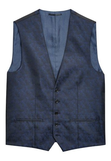 Next Jacquardanzug With Leaf Pattern: Vest