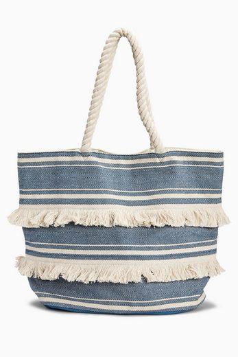Next Strandtasche mit Griffen in Seiloptik