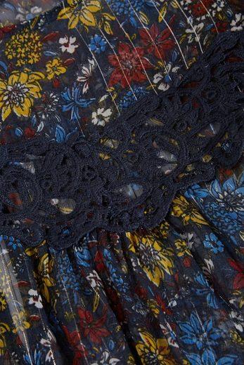 Next Bluse aus metallisiertem Gewebe