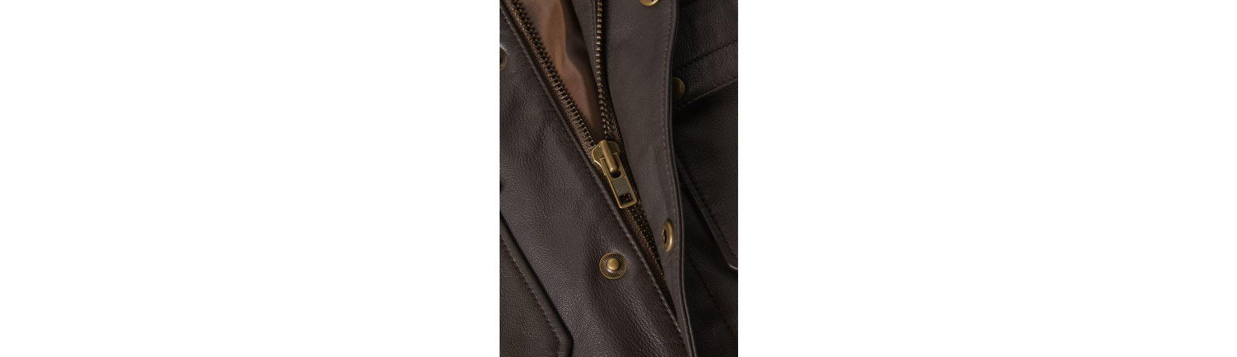 Next Lederjacke mit vier Taschen Kosten Günstiger Preis Billig Exklusiv qHmkFo8