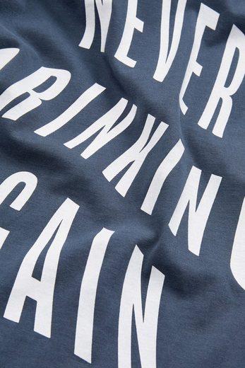 "Next T-Shirt mit ""Never Drinking Again""-Print"