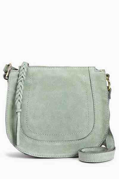 Next Satteltasche aus Leder mit Flechtdetail