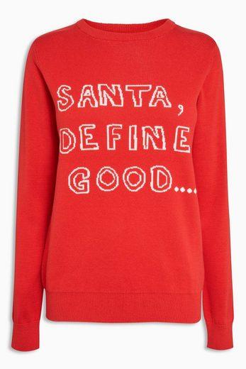 """Next Pullover mit Aufschrift """"Define Good"""""""