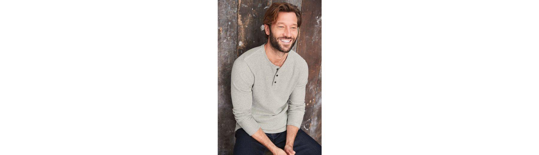 Next Fein gestreiftes Grandad-Shirt mit langen Ärmeln Steckdose Neuesten Schnelle Lieferung Online oBkaTQ