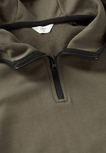 Next Kapuzenpullover mit Reißverschluss am Ausschnitt