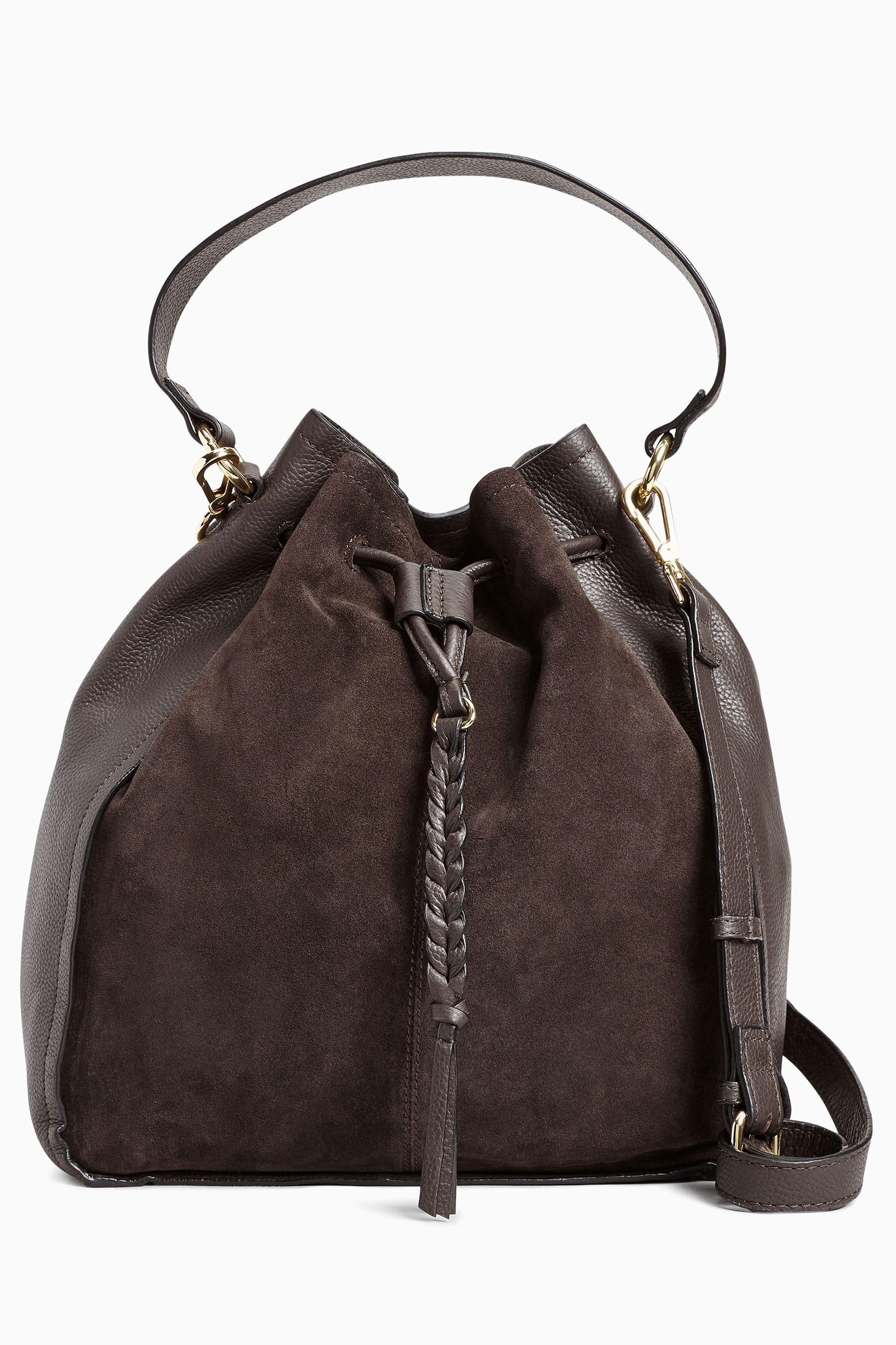 Next Große Duffle-Tasche aus Leder