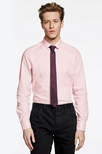 Next Heathered Slim-fit Shirt And Tie In Set 2 Pieces
