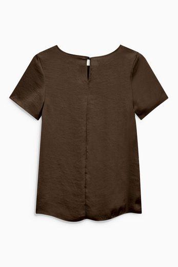 Next T-Shirt aus Satin