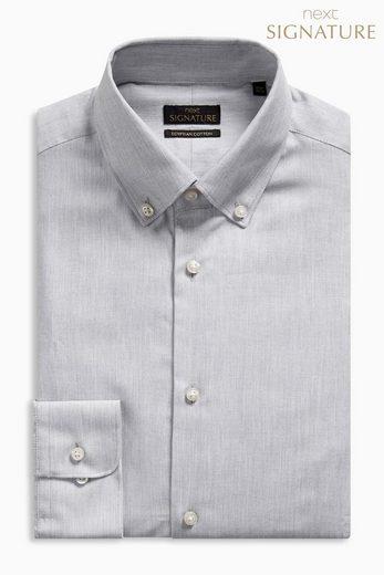 Next Slim-Fit Hemd aus ägyptischer Baumwolle mit Button-down-Kragen