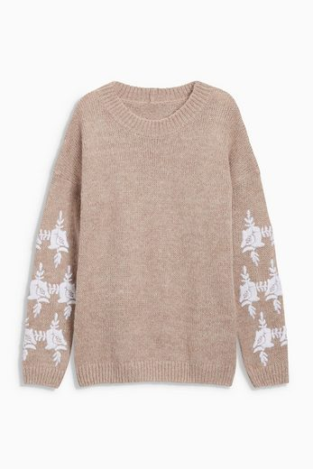 Next Pullover mit Stickerei