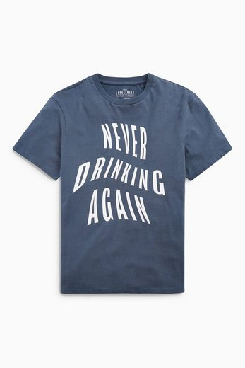 "Next T-Shirt mit ""Never Drinking Again""-Print"