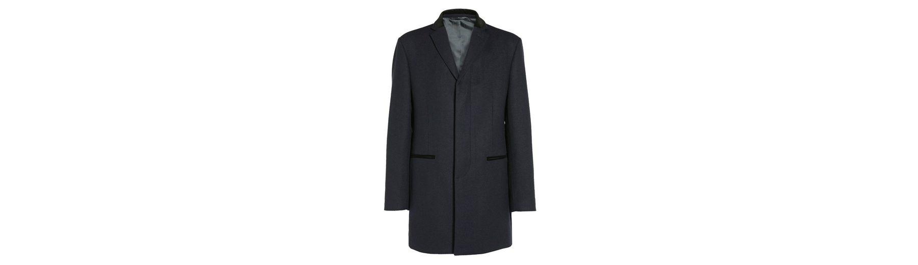 Next Mantel mit Samkragen
