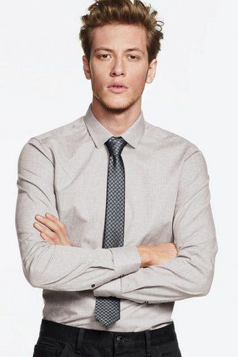 Next Meliertes Slim-Fit-Hemd und Krawatte im Set 2 teilig