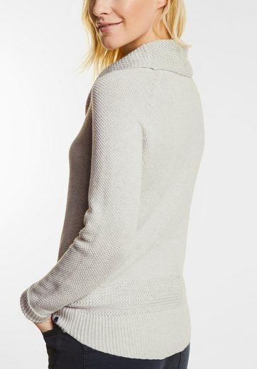 CECIL Pullover mit Volumenkragen