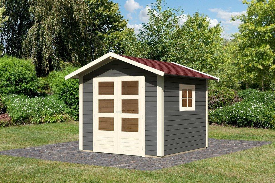 set gartenhaus wedding 1 bxt 244x244 cm terragrau inkl dachschindeln online kaufen otto. Black Bedroom Furniture Sets. Home Design Ideas