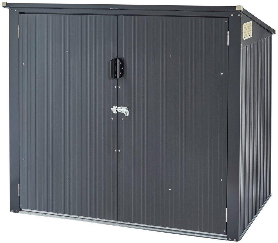 konifera mülltonnenbox »bs-t1«, für 2 x 240l, bxtxh: 153x100,5x132