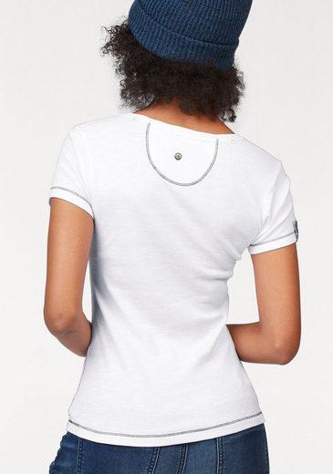 KangaROOS T-Shirt, mit zweifarbigen Pailletten