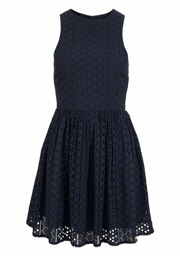 Superdry Spitzenkleid CAMYLLA RACER DRESS, mit Allover Lochstickerei