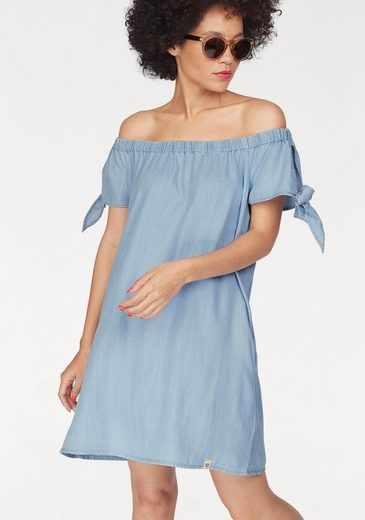 Superdry Off-Shoulder-Kleid ALEXIA OFF SHOULDER DRESS, in Denim Optik