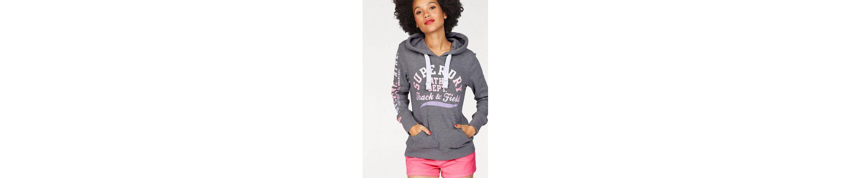 Superdry Kapuzensweatshirt TRACK & FIELD LITE HOOD, mit mehrfarbigen Pastellprints