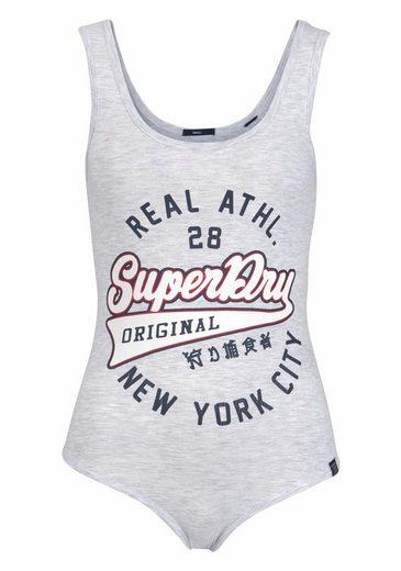 Superdry Shirtbody AMERICANA BODYSUIT, mit großem Logo-Print
