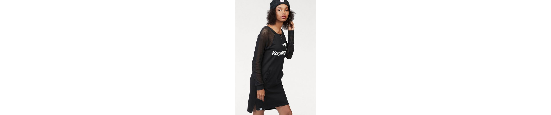 KangaROOS Sweatkleid, mit Ärmeln aus Netz-Ware und Front-Druck vorne