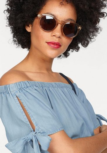 Superdry Carmenbluse AMIEE BARDOT TOP, im Cropped Look