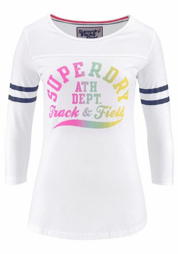 Superdry Print-Shirt TRACKSTER BASEBALL TOP, im College Style