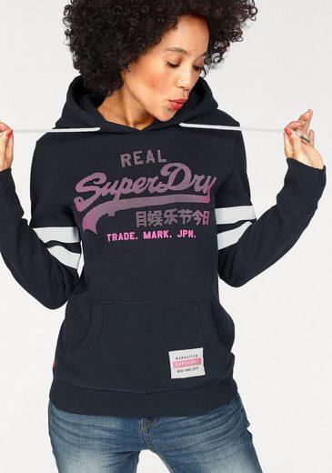 Superdry Kapuzensweatshirt VINTGE LOGO DUO DOT ENTRY HOOD, mit gummiertem 3D Logo-Print