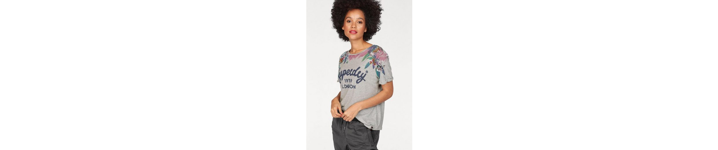 Superdry T-Shirt HAWAII BOXY TEE, im floralen Design