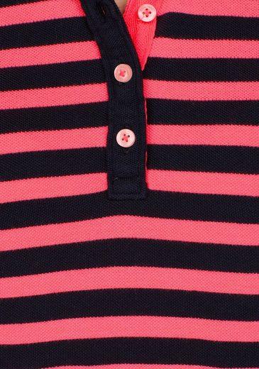 Superdry Poloshirt PACIFIC STRIPE POLO, mit neonfarbigen Details