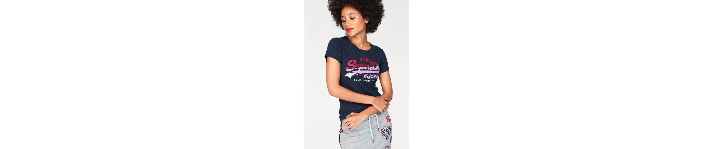 Superdry T-Shirt VINTAGE LOGO SPLICE ENTRY TEE, mit mehrfarbigem Frontprint