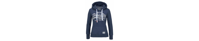 Superdry Kapuzensweatshirt VINTAGE LOGO SATIN ENTRY HOOD, mit glänzenden Metallic-Prints