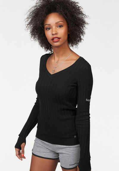 Rüschen Strickpullover Dames Paars Selected HDdVgLY