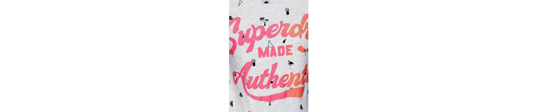 Design ENTRY AOP Shirt sommerlichen TEE T AUTHENTIC im Allover MADE Superdry U6vqBv