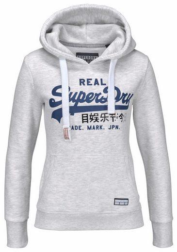 Sweatshirt Superdry Logo Vntge Capuchon Dentrée Avec Logo Et Feuille