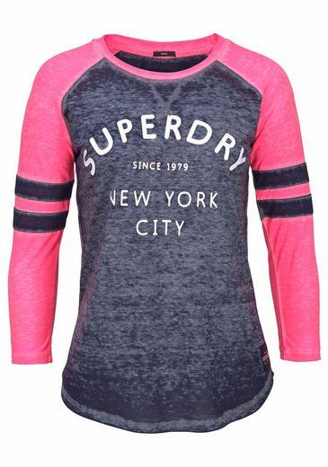 Superdry 3/4-Arm-Shirt BROOKLYN BASEBALL TOP, im College Look